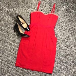 BCBGMaxAzria Red Form fitting Dress